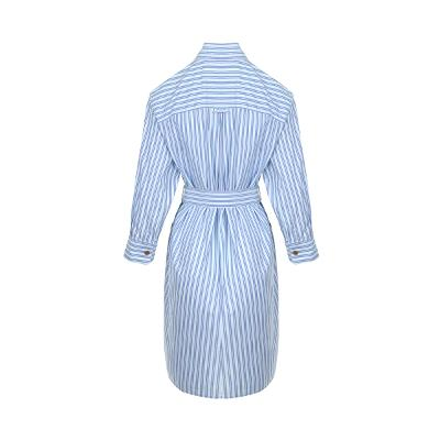 unique collar detail shirt dress